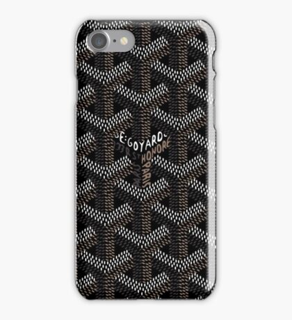 Black Goyard Pattern iPhone Case/Skin