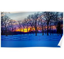 SCENIC SNOW SUNSET Poster