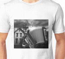 Accordian Blues Man Unisex T-Shirt