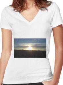 Observatory Deck Women's Fitted V-Neck T-Shirt
