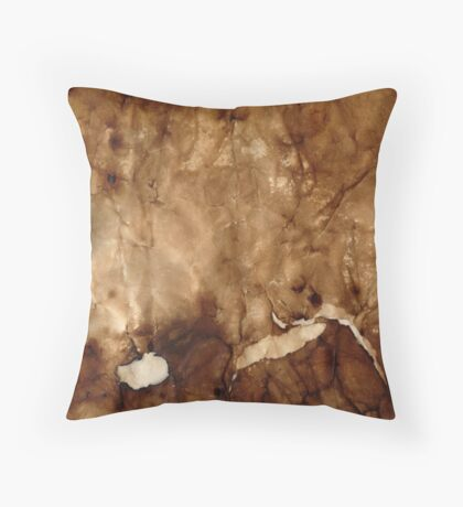 Burned paper II Throw Pillow