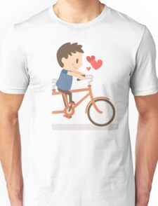 Valentine day Gift - The Couple bicycle - Boy Unisex T-Shirt