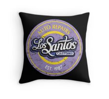 Los Santos Customs Throw Pillow