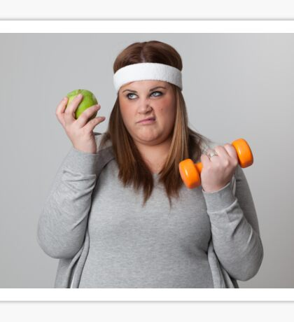 Annoyed with diet and exercise Sticker