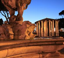 Triton fountain in Rome by iristudiophoto