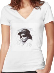 Eazy Does It Women's Fitted V-Neck T-Shirt