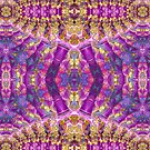 Purple Royale Fractals Geometry by webgrrl