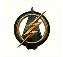 CW Arrow and The Flash Crossover Symbol Shirt Art Print