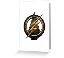 CW Arrow and The Flash Crossover Symbol Shirt Greeting Card