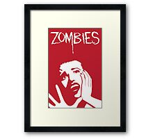 Zombies!!! Framed Print