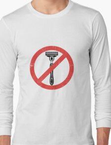 Beard Only - No Shaving Allowed Epic Beards Distressed Design Long Sleeve T-Shirt