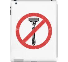 Beard Only - No Shaving Allowed Epic Beards Distressed Design iPad Case/Skin