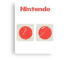 NES Controller Buttons Canvas Print