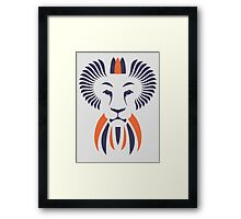 Lion Haze - Two Color King Framed Print