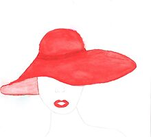 Red hat by Gracefullydrawn