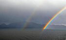 Double rainbow, Romsdalsfjord , Norway by David Carton