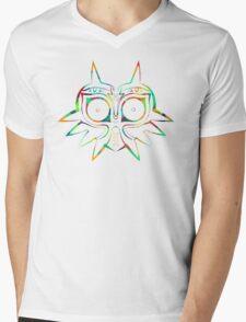 Majora's Mask Lines Color Mens V-Neck T-Shirt