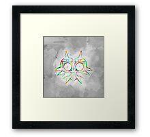 Majora's Mask Lines Color Framed Print