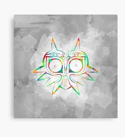 Majora's Mask Lines Color Canvas Print