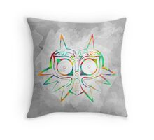 Majora's Mask Lines Color Throw Pillow
