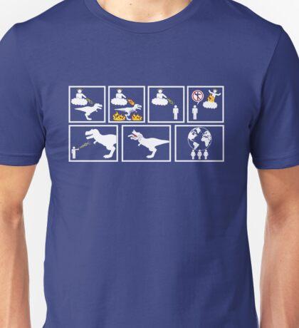 """""""God Creates Dinosaurs..."""" Unisex T-Shirt"""
