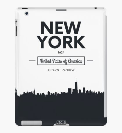 city skyline New York iPad Case/Skin