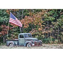 Old Glory Autumn Photographic Print