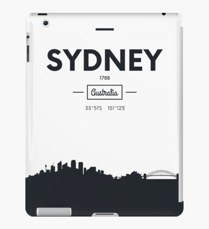 city skyline Sydney iPad Case/Skin