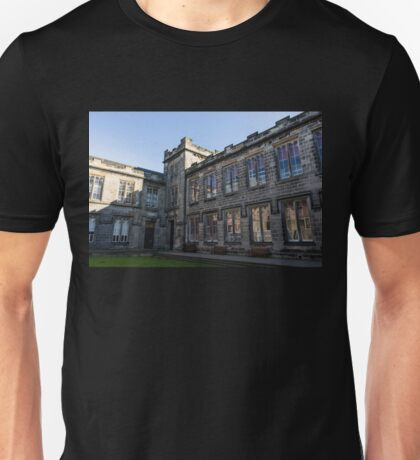 Shadows and Reflections - University of Aberdeen Courtyard Unisex T-Shirt