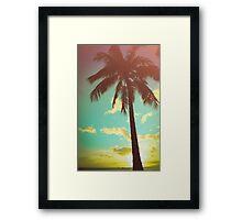 Retro Styled Palm Tree Framed Print