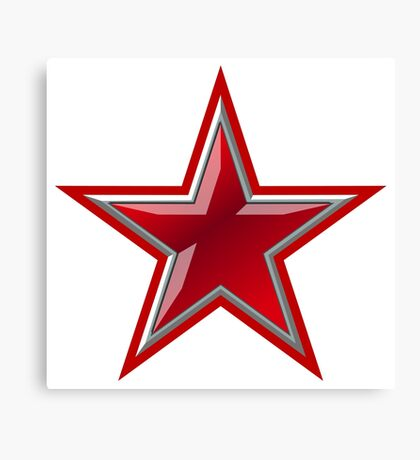 Red Star Canvas Print
