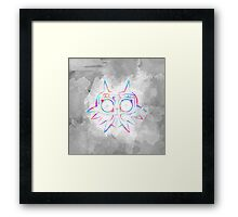 Majora's Mask Lines Color 2 Framed Print