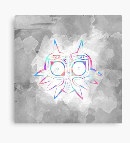 Majora's Mask Lines Color 2 Canvas Print