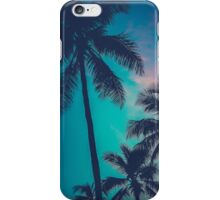 Retro Sunset Hawaii Palm Trees iPhone Case/Skin