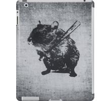 Angry street art mouse / hamster (baseball edit) iPad Case/Skin