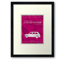 BBC Sherlock - A Study in Pink Framed Print
