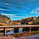 Autumn Low Water Bridge by Rick  Friedle