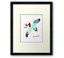 Adorable Fox Framed Print