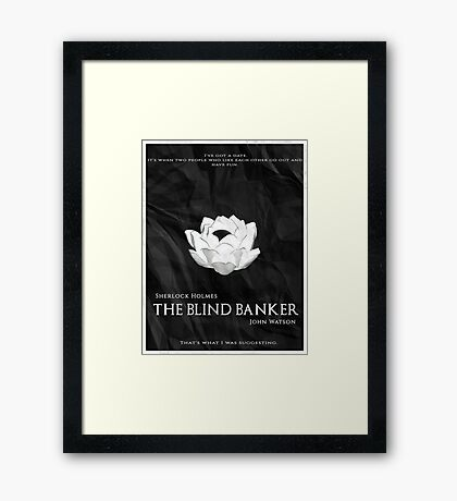 BBC Sherlock - The Blind Banker Framed Print