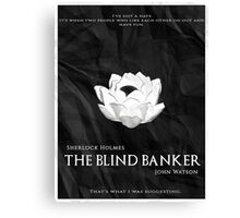 BBC Sherlock - The Blind Banker Canvas Print