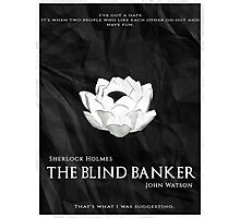 BBC Sherlock - The Blind Banker Photographic Print