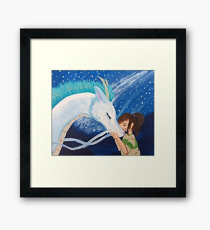 Haku & Chihiro - Dragon Boyfriend Framed Print