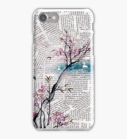 Blossom Newspaper iPhone Case/Skin