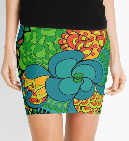60s hippie psychedelic pattern Mini Skirt