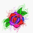 Digital rose tattoo by Perggals© - Stacey Turner