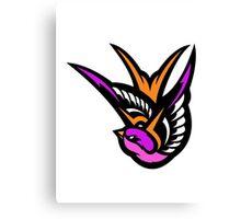 Pink swallow Logo Canvas Print