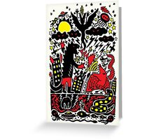Red Black Yellow Greeting Card