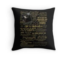 Captain Quotes Throw Pillow