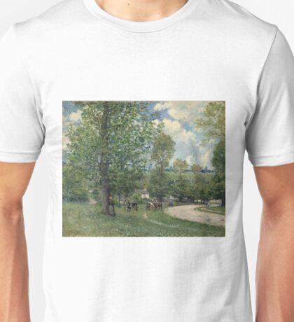 Alfred Sisley - Cows In Pasture, Louveciennes (1874) Unisex T-Shirt