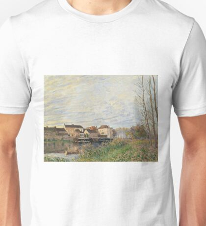 Alfred Sisley - Evening In Moret, End Of October Unisex T-Shirt